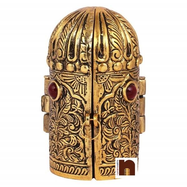 Shri Laxmi,Ganesh,Saraswati Idol in Oxidized Golden Box (1 Pc)